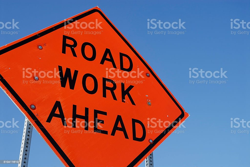 Road work stock photo