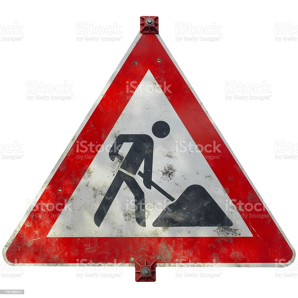 Road work sign royalty-free stock photo
