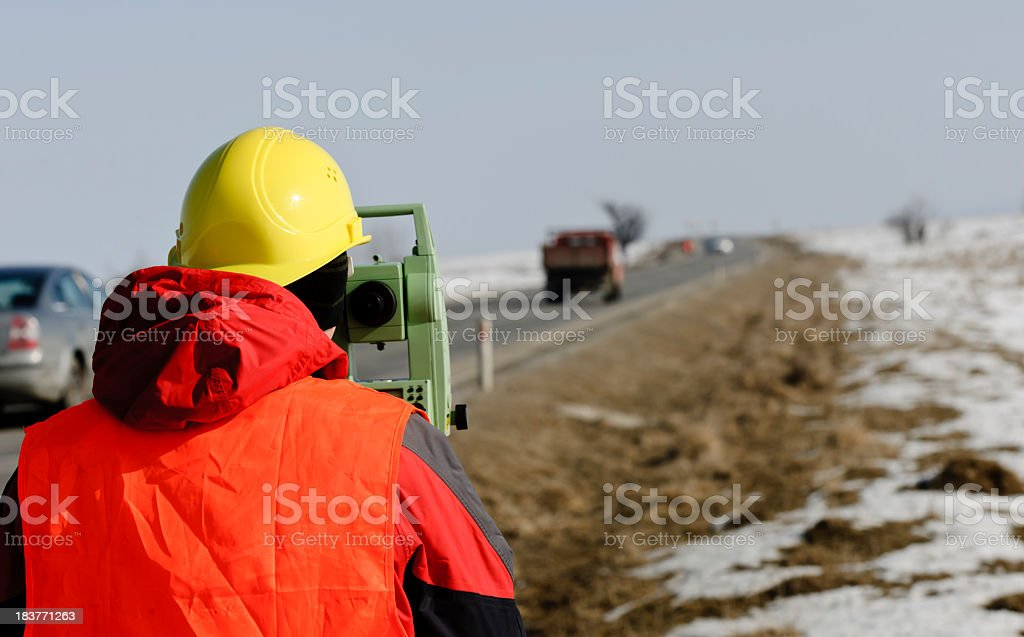 road worker stock photo