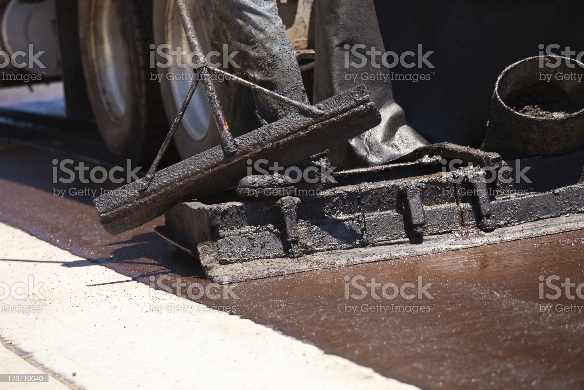Road Worker Resurfacing Street royalty-free stock photo
