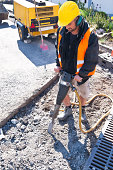 Road Worker with Jackhammer
