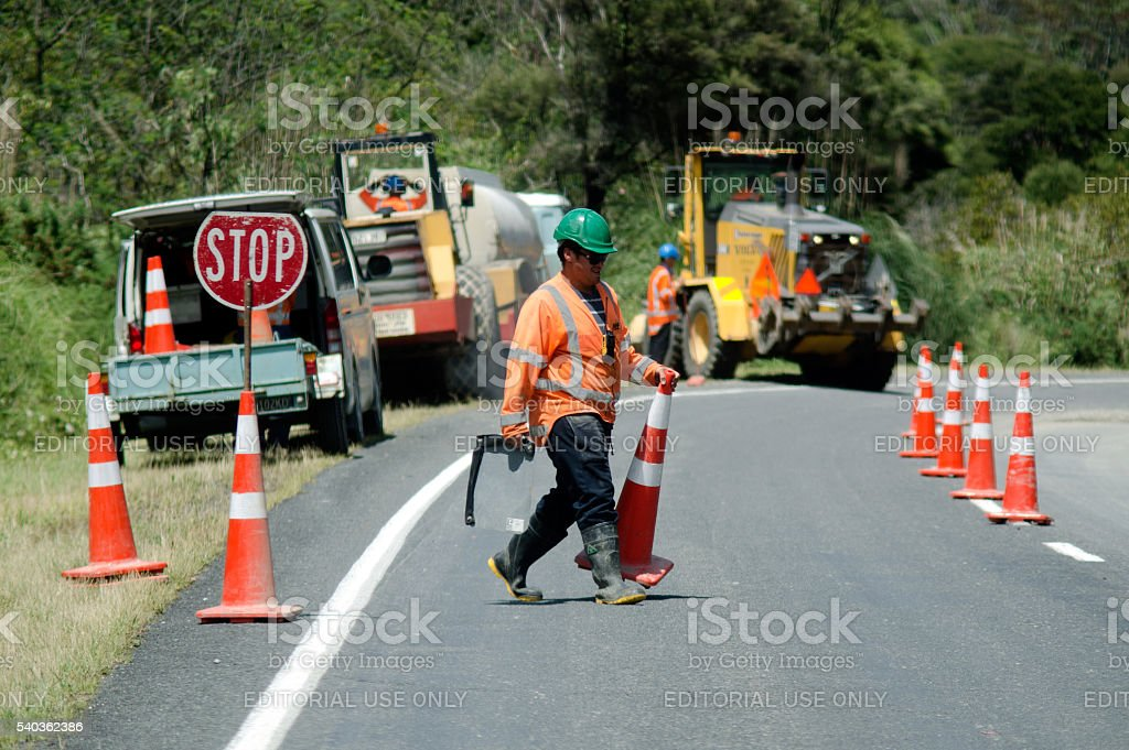 Road Works stock photo
