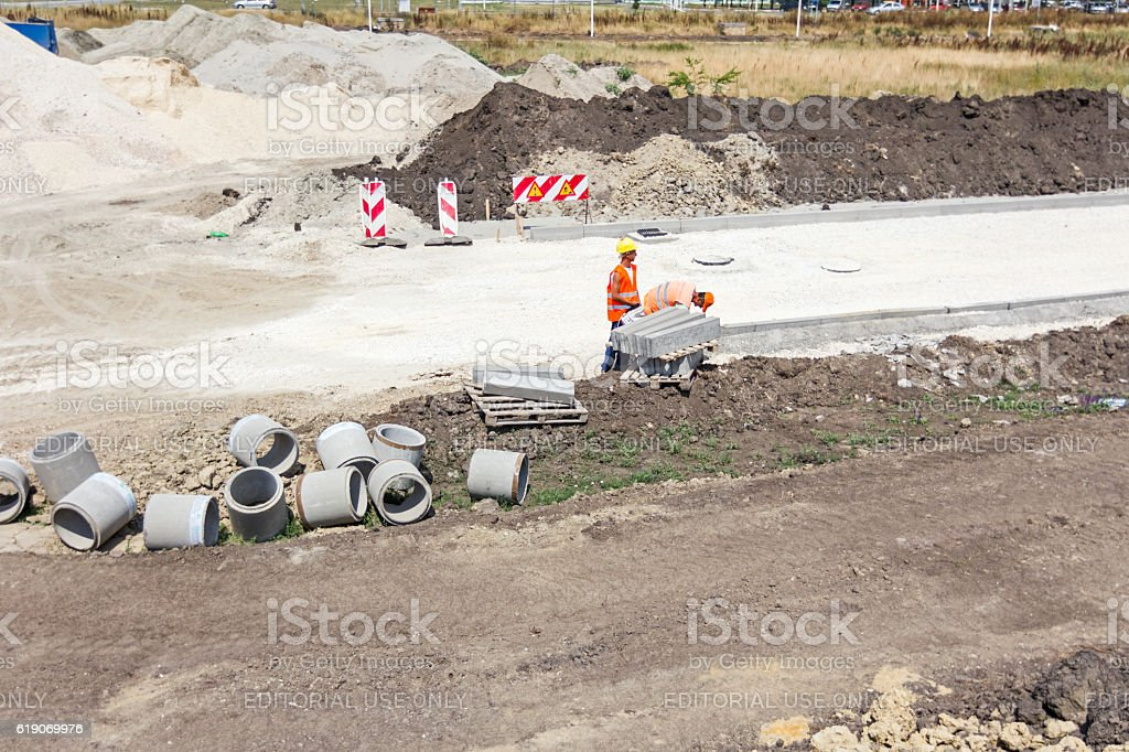 Road works. stock photo