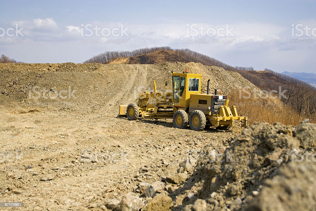 Road works royalty-free stock photo