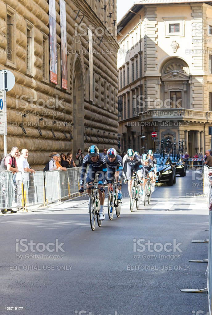 2013 UCI Road World Championship. Team Time Trial Training, Florence stock photo