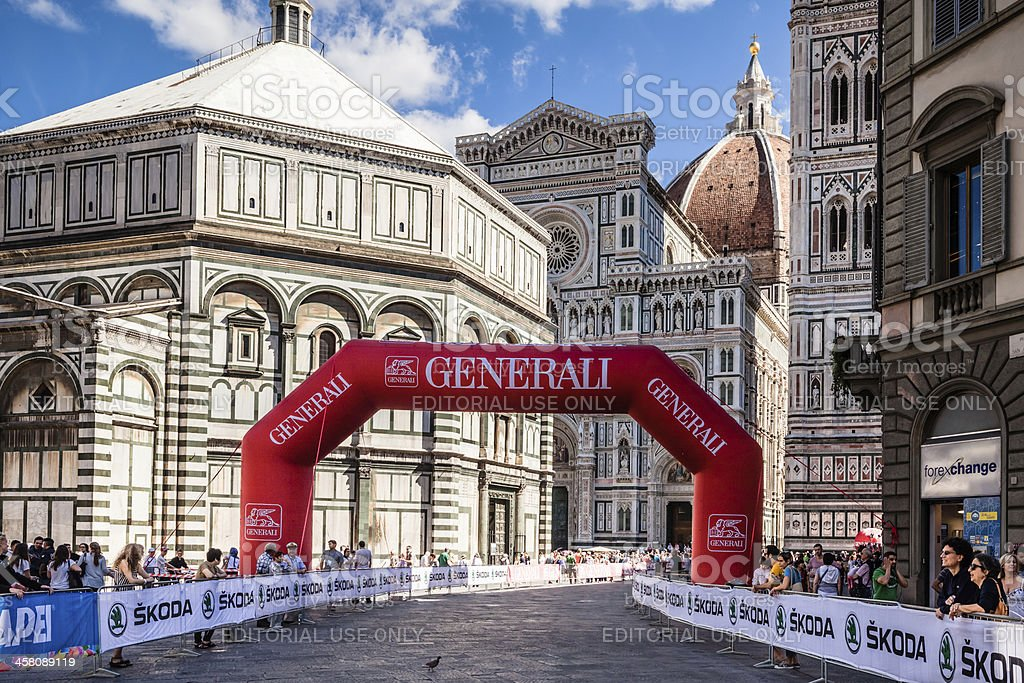 2013 UCI Road World Championships, Florence Piazza del Duomo stock photo