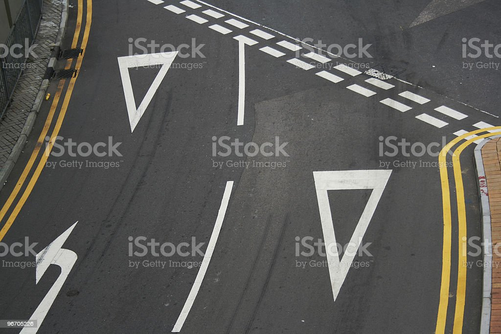 Road Yields royalty-free stock photo