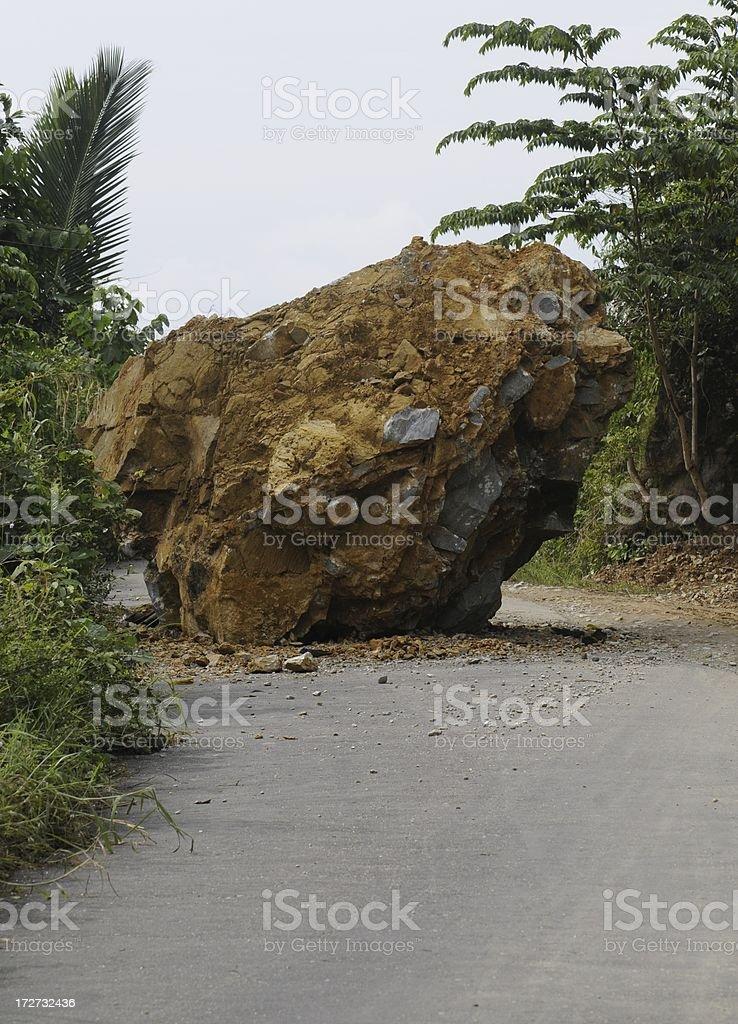 roadblock royalty-free stock photo