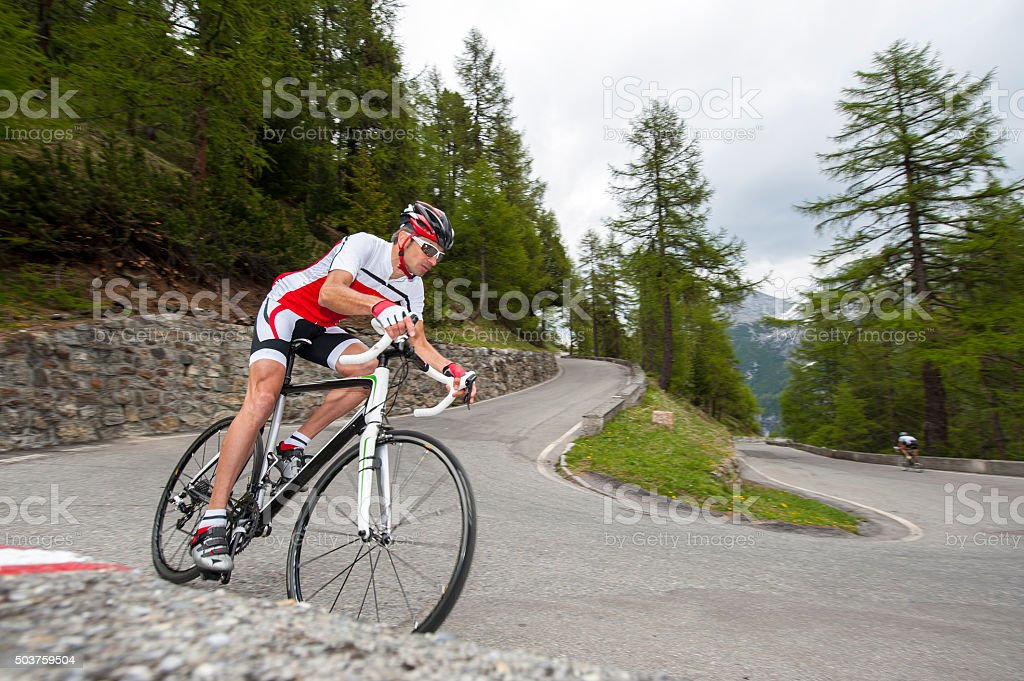 roadcycling downhill stock photo