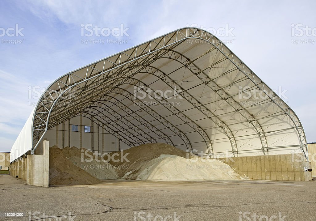 Road/Highway Salt Storage Structure royalty-free stock photo