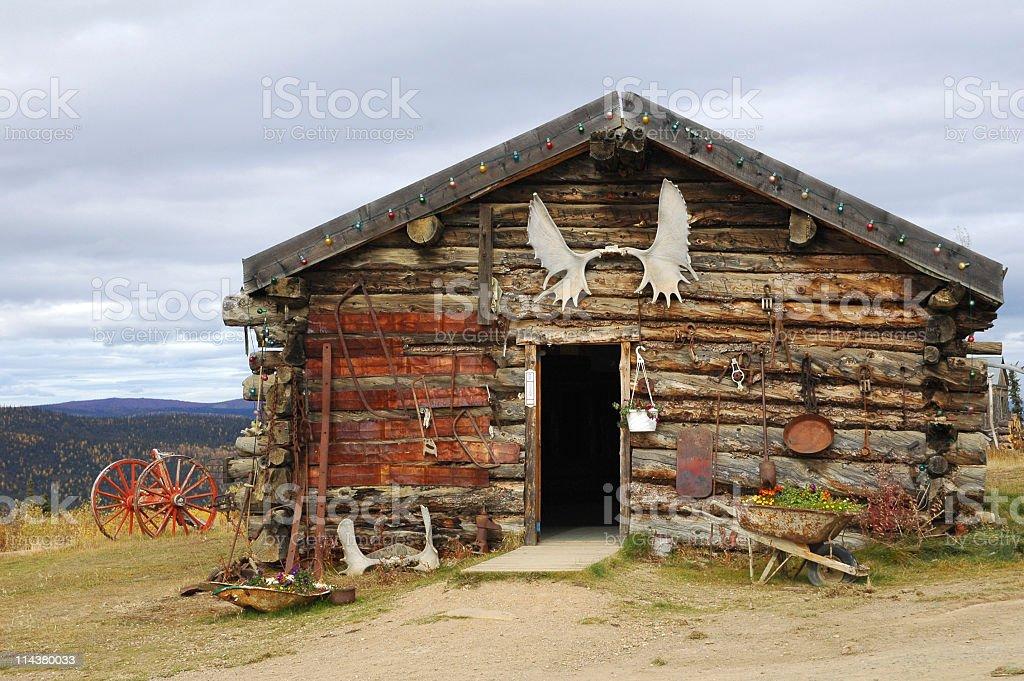 Roadhouse in Boundary,Alaska,USA royalty-free stock photo
