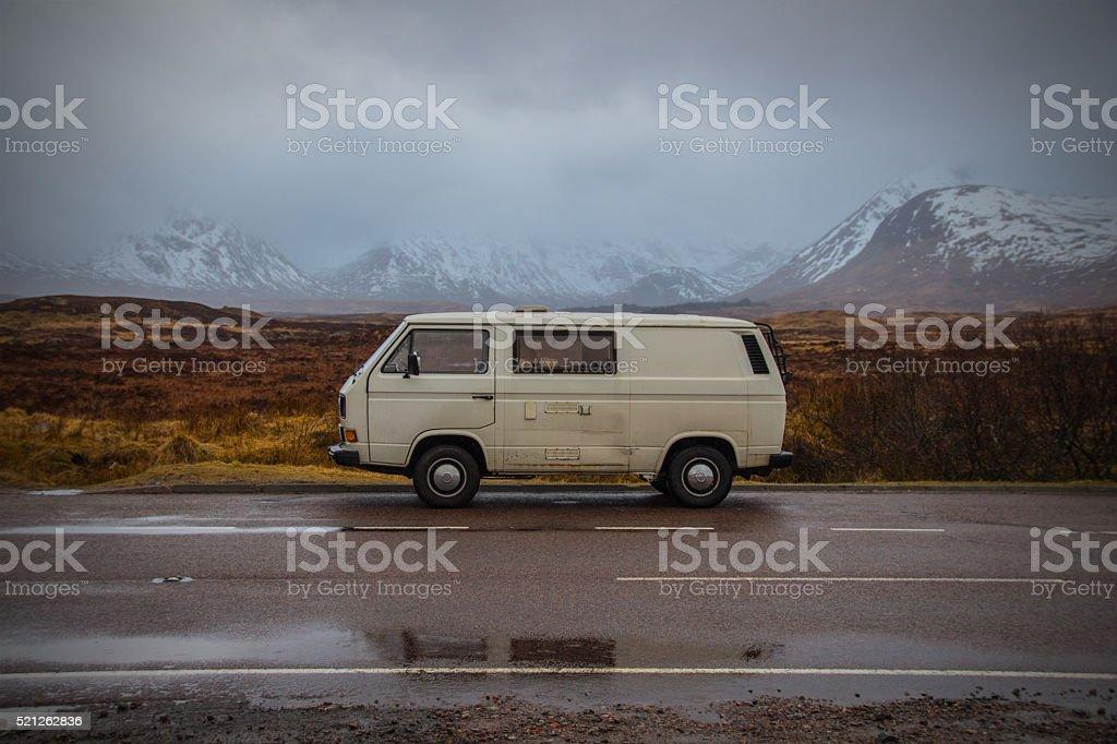 Roadlife in Scotland stock photo