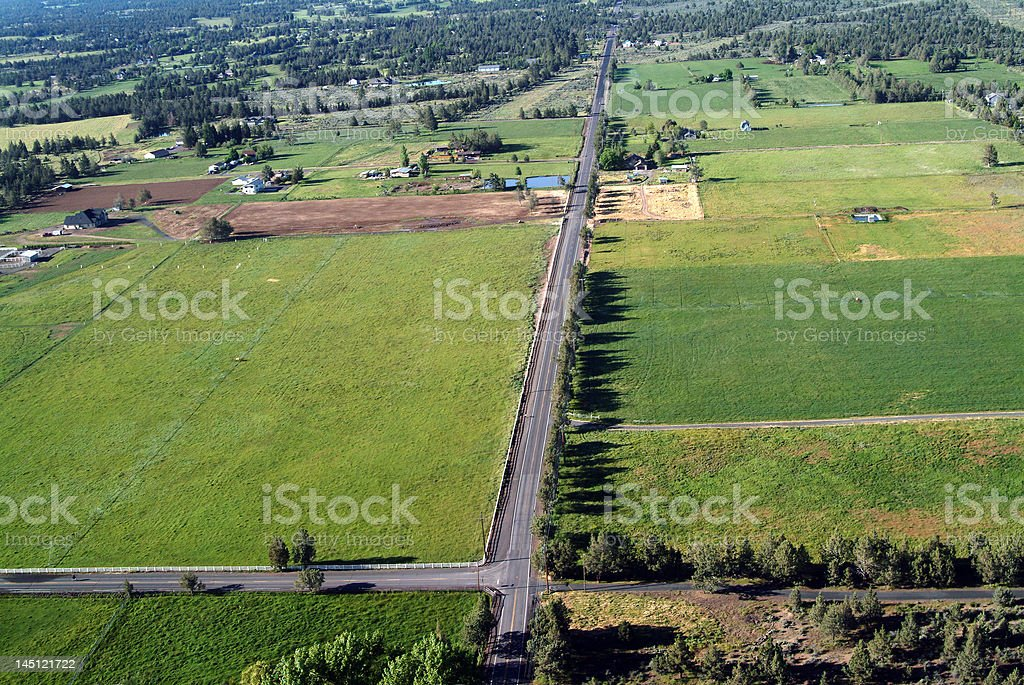 roads and fields royalty-free stock photo