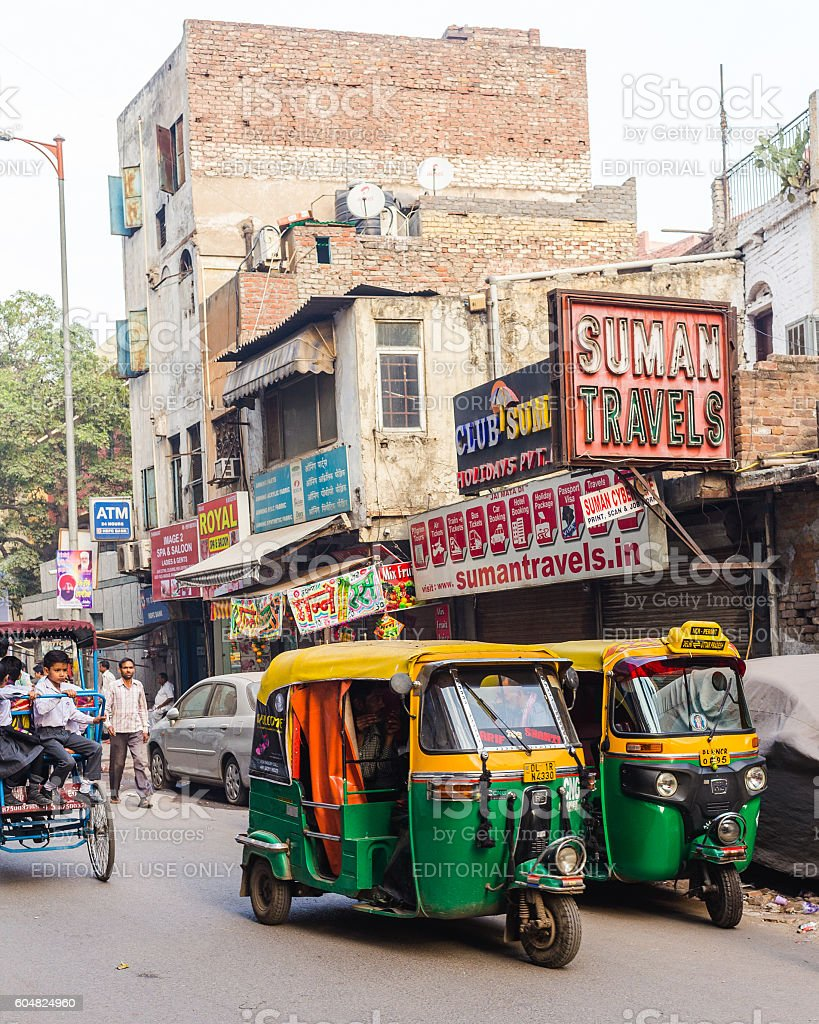 Roads and Streets in Central Delhi stock photo