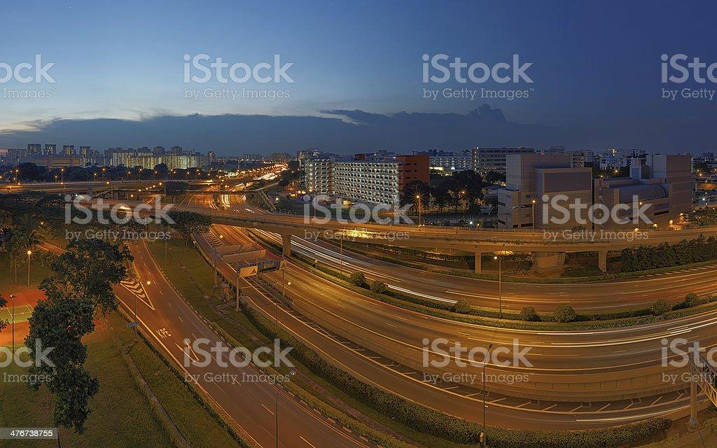 Roads Express stock photo