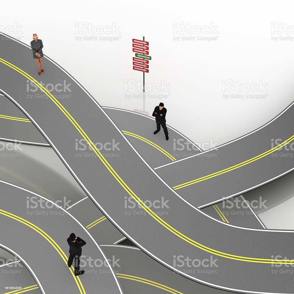Roads labyrinth royalty-free stock photo