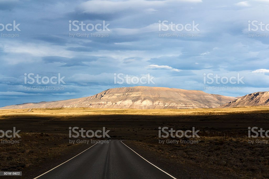 Roads of Patagonia stock photo