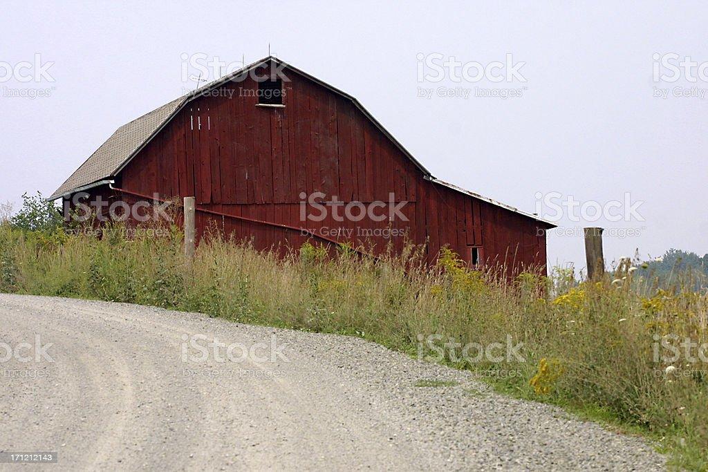 Roadside Barn stock photo