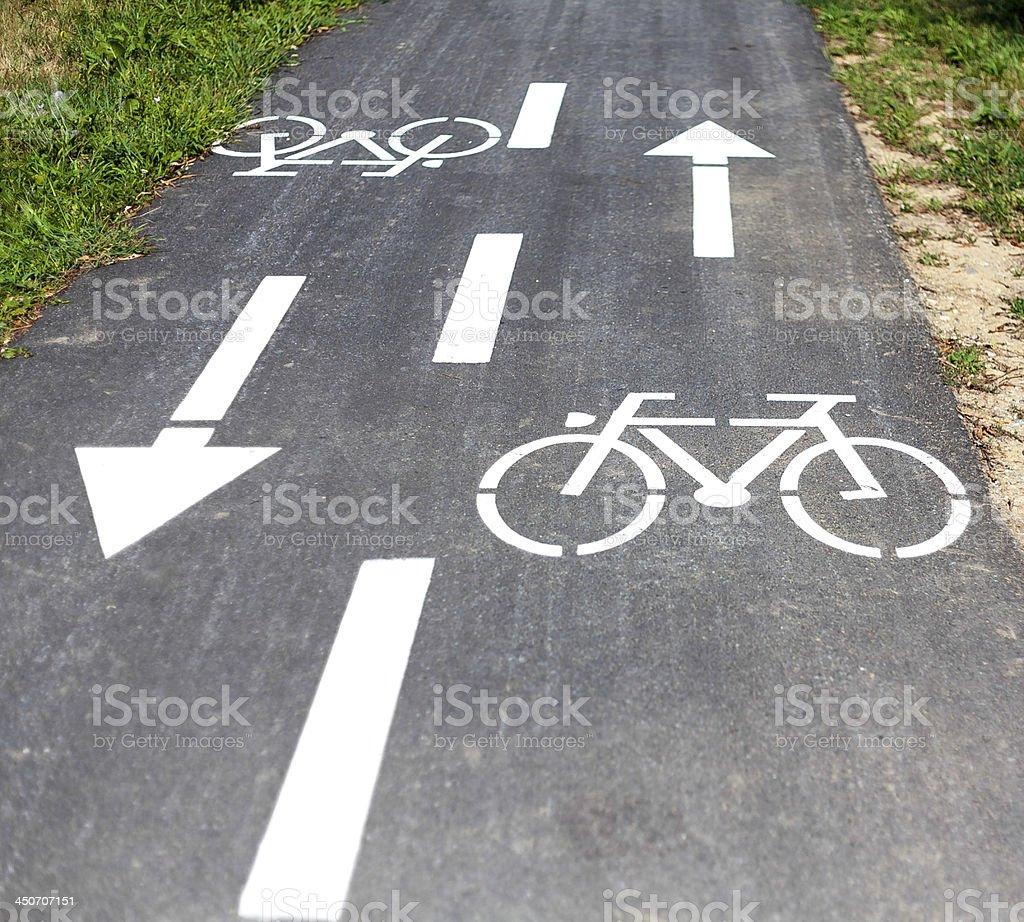 Roadside Bicycle Lane I royalty-free stock photo