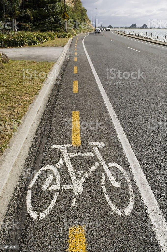 Roadside Bicycle Lane royalty-free stock photo