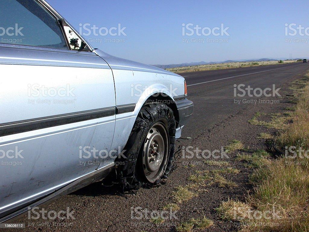 Roadside Bummer royalty-free stock photo