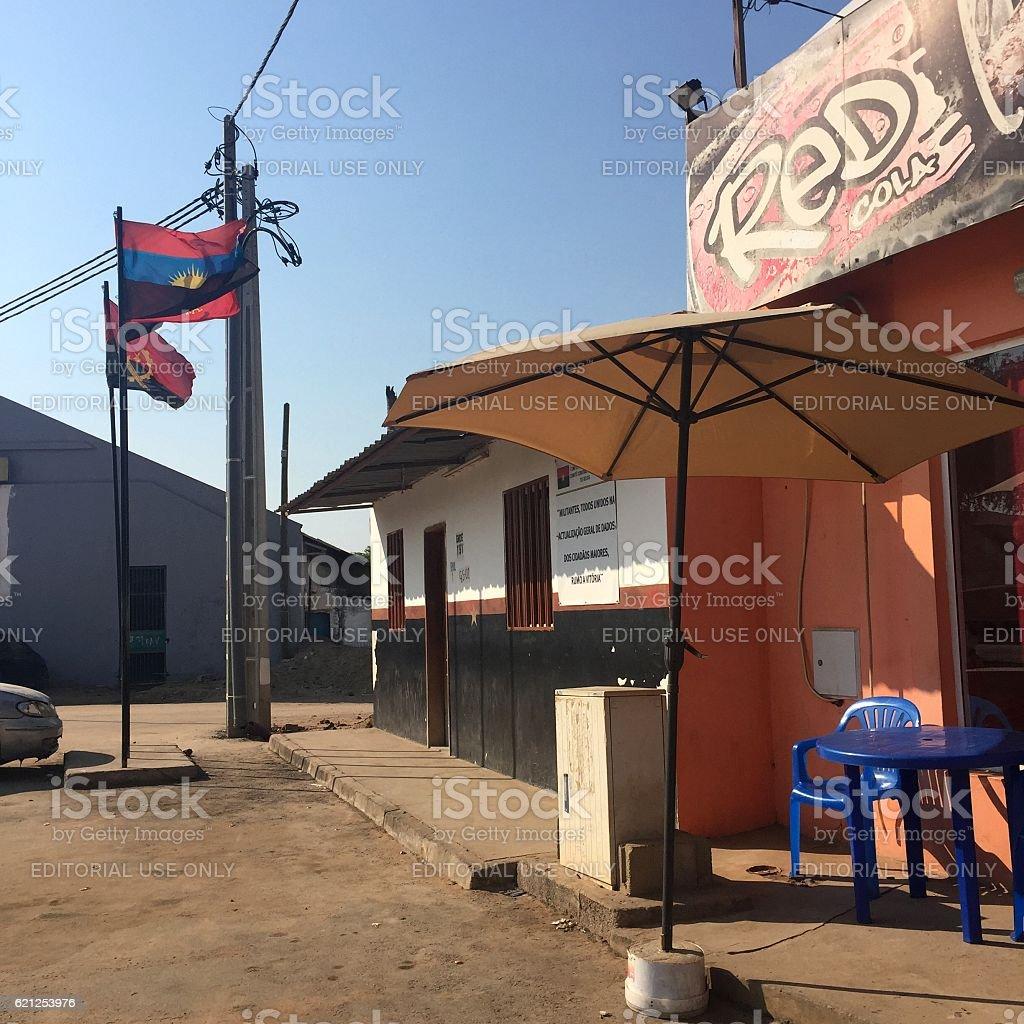 Roadside cafe in Luanda, Angola stock photo
