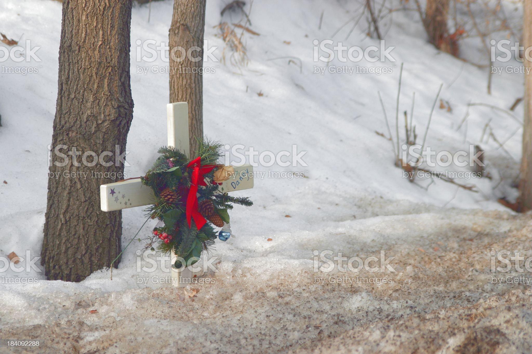 roadside grave royalty-free stock photo