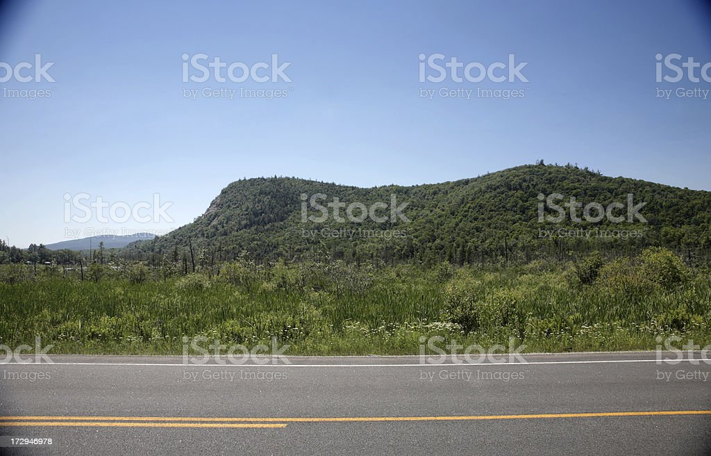 Roadside landscape stock photo