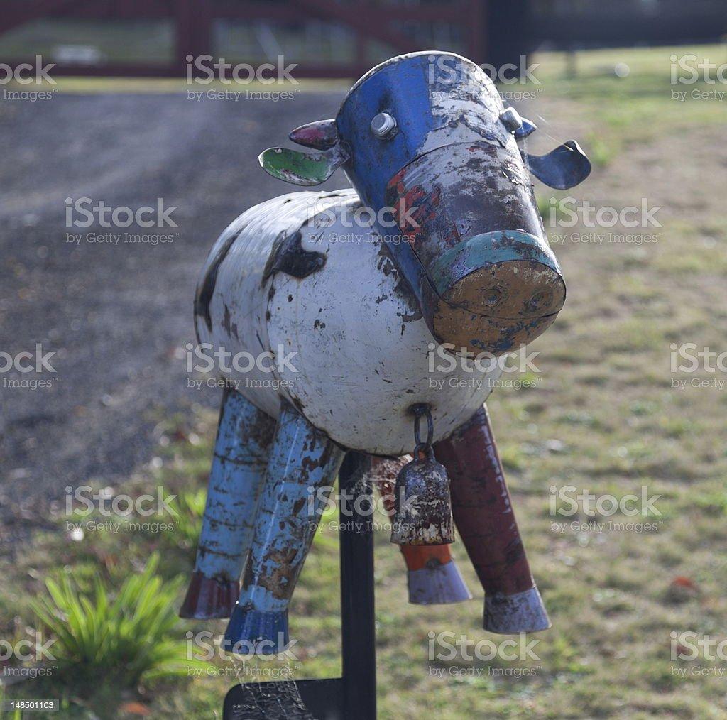 Roadside letter box. Country NSW. Australia. royalty-free stock photo