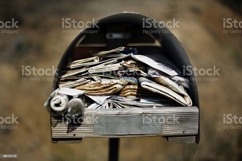 Roadside Letterbox stock photo