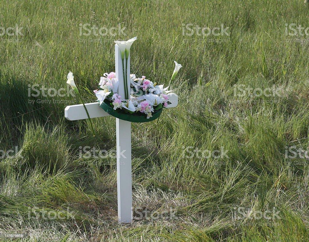 Roadside Memorial royalty-free stock photo