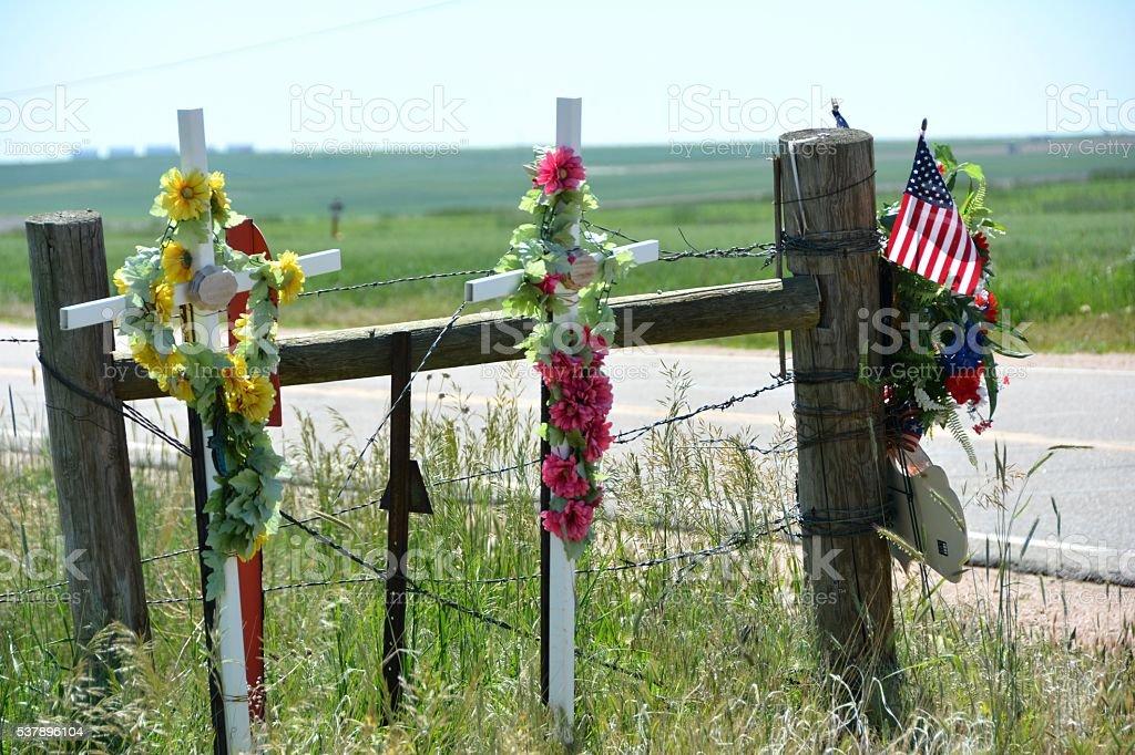 Roadside Memorial stock photo