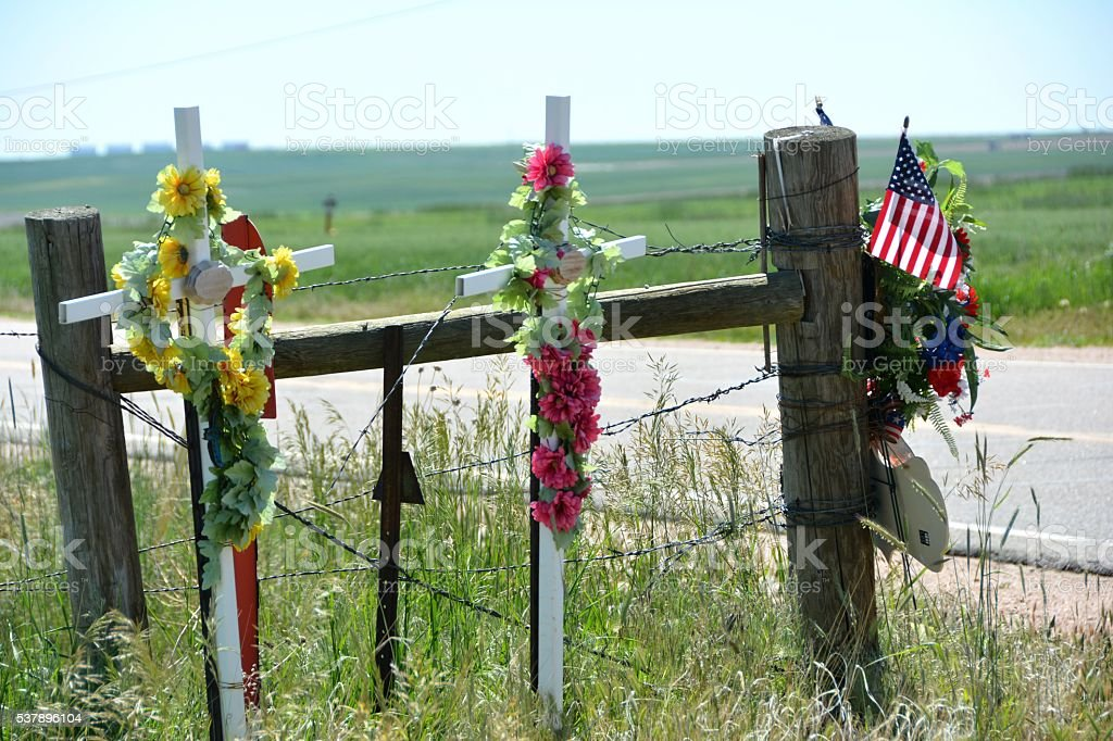 Roadside Memorial stock photo