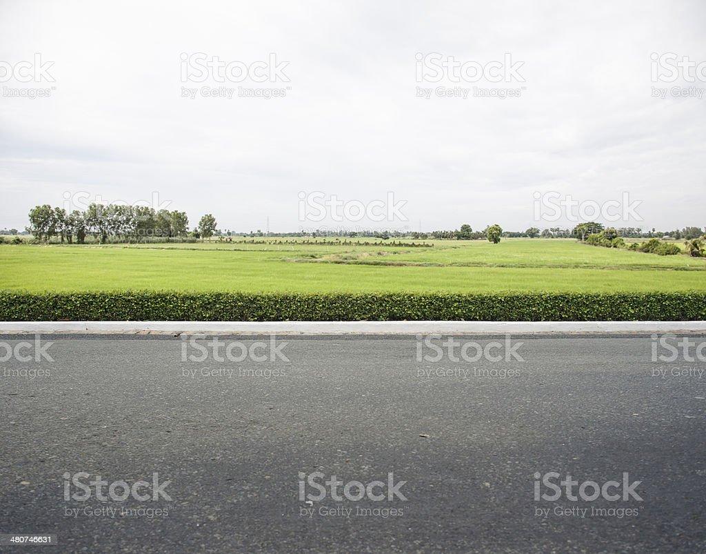 Roadside stock photo