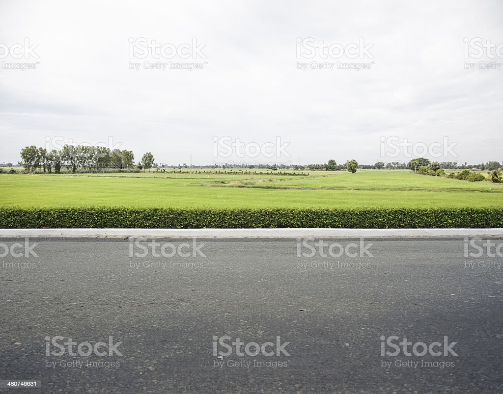 Roadside stock photo