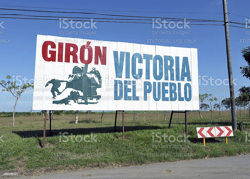 Roadside propaganda, Cuba royalty-free stock photo