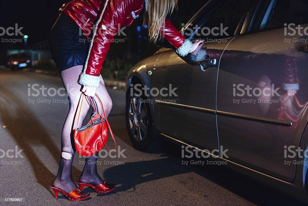 Roadside prostitution stock photo