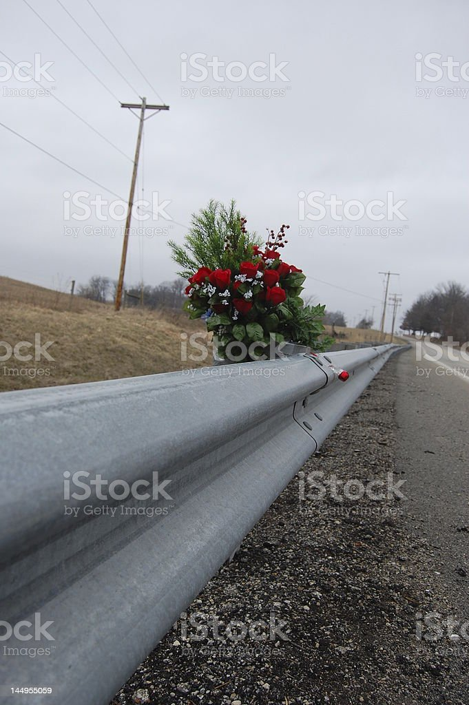 Roadside Rose Memorial royalty-free stock photo