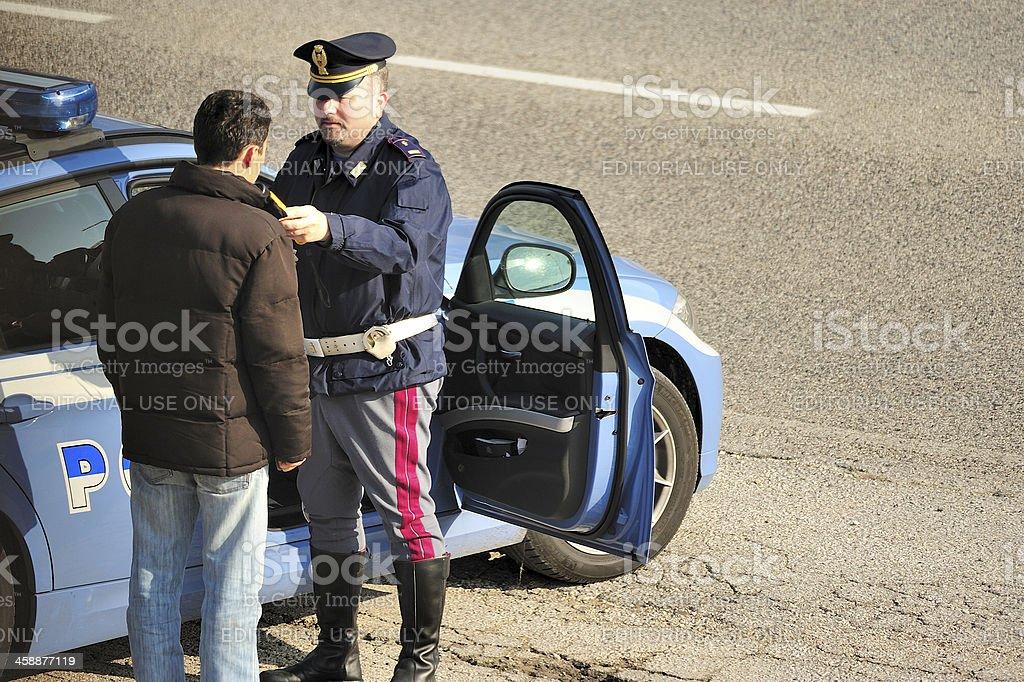 roadside sobriety test royalty-free stock photo