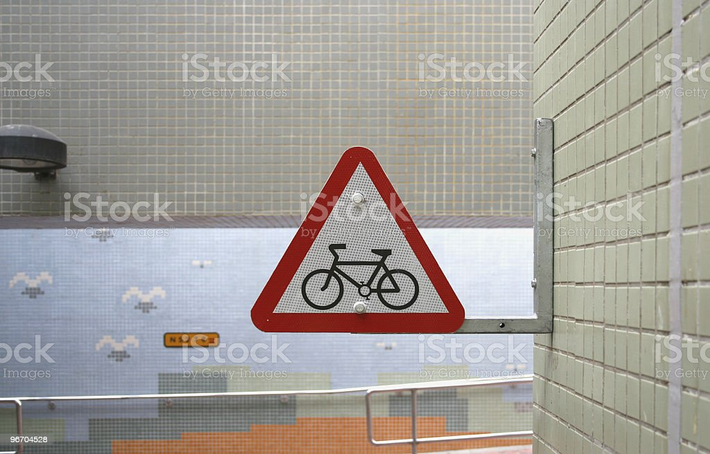 Roadsign - Bicycle royalty-free stock photo