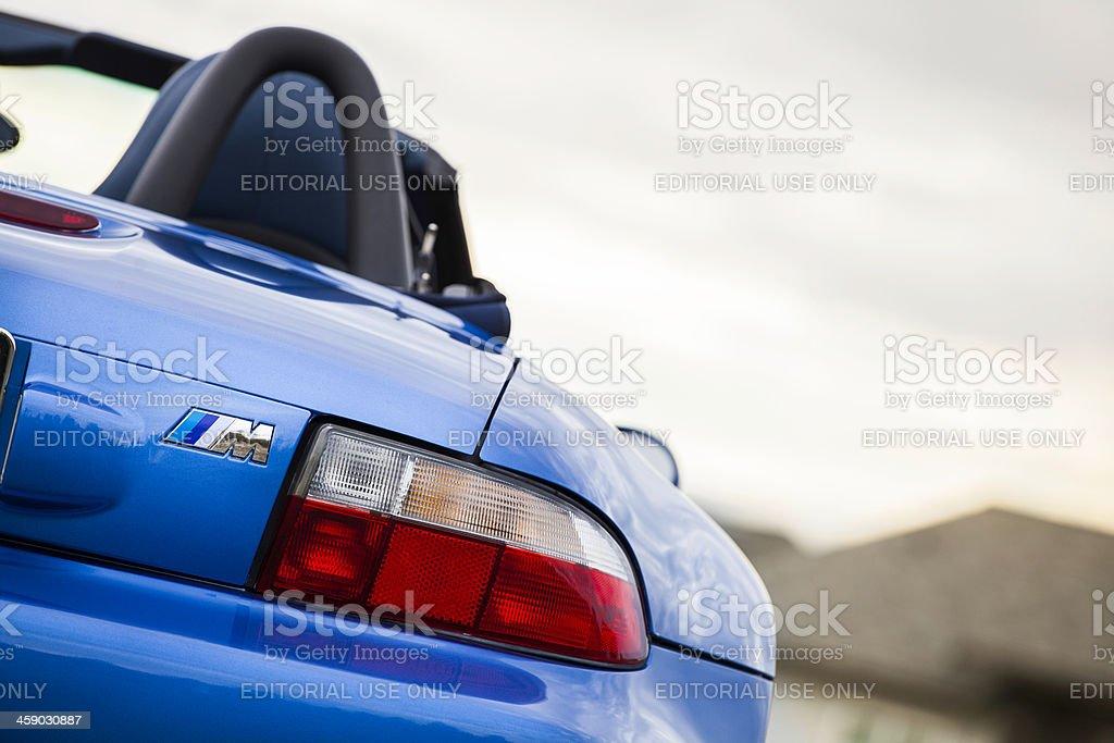 BMW M Roadster Rear View stock photo