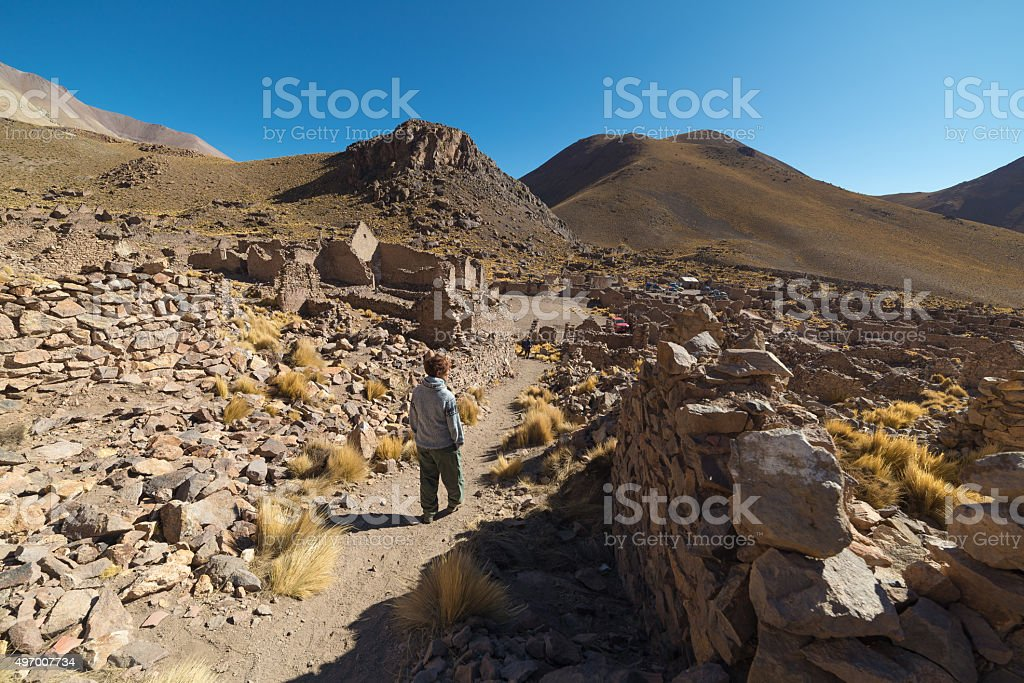 Roadtrip on the Andean highlands, Southern Bolivia stock photo