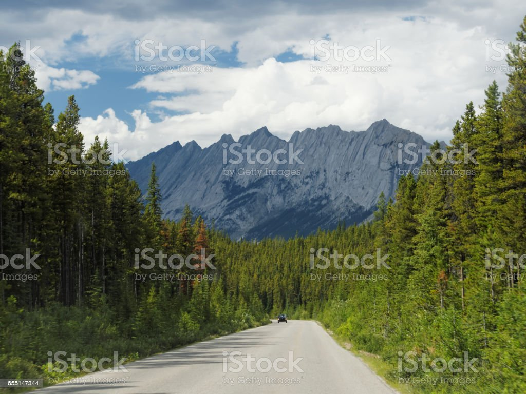 Roadtrip through Jasper National Park stock photo