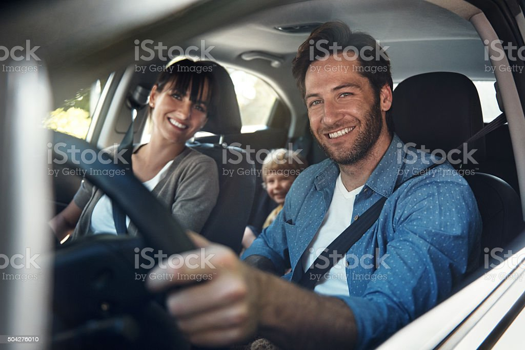 Roadtrips are for family stock photo