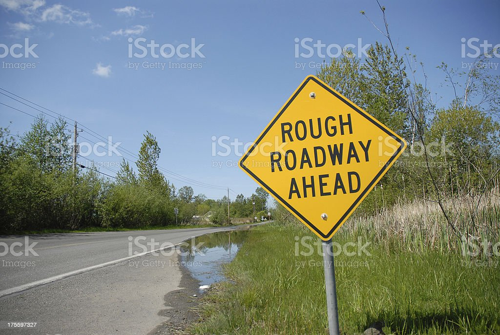 Roadway Close royalty-free stock photo