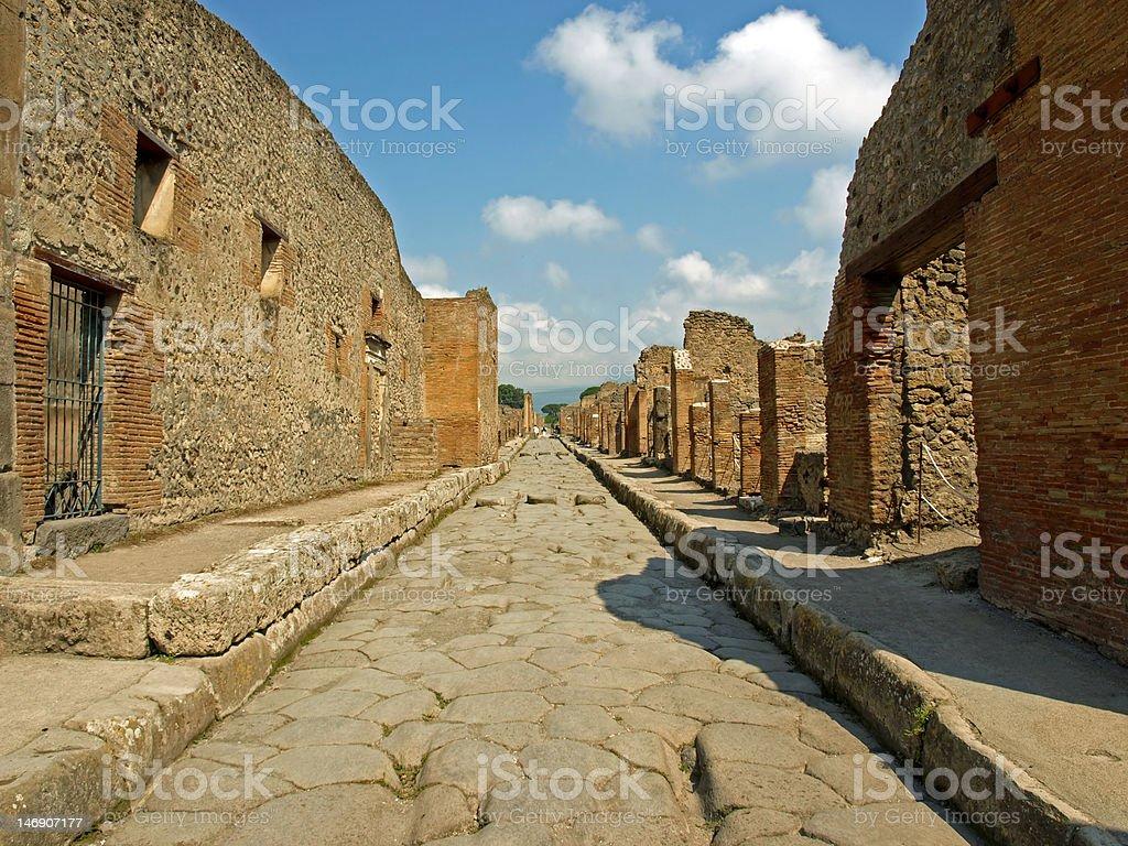 Roadway in Pompeii royalty-free stock photo