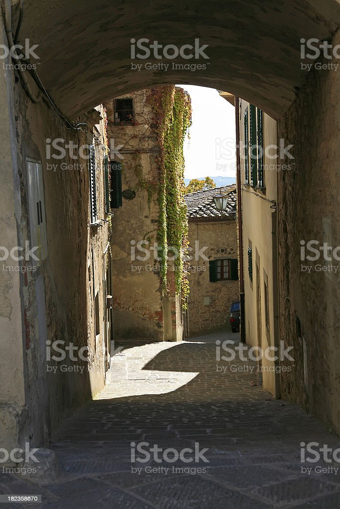 Roadway Through An Italian Past royalty-free stock photo