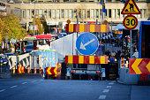 Roadwork on Swedish road