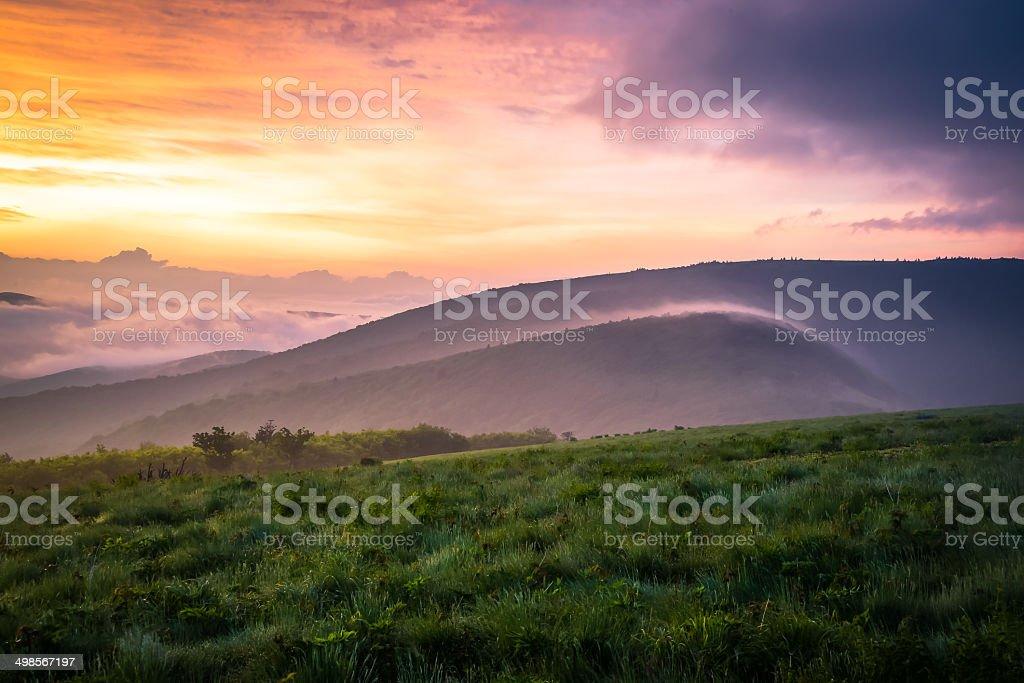 Roan Mountain Sunrise 2 stock photo