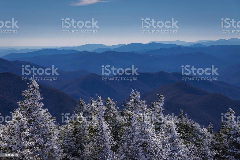 Roan Mountain Winter Hike stock photo